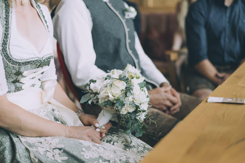 Der Brautstrauß bei einer Hochzeit auf der Granatalm im Zillertal