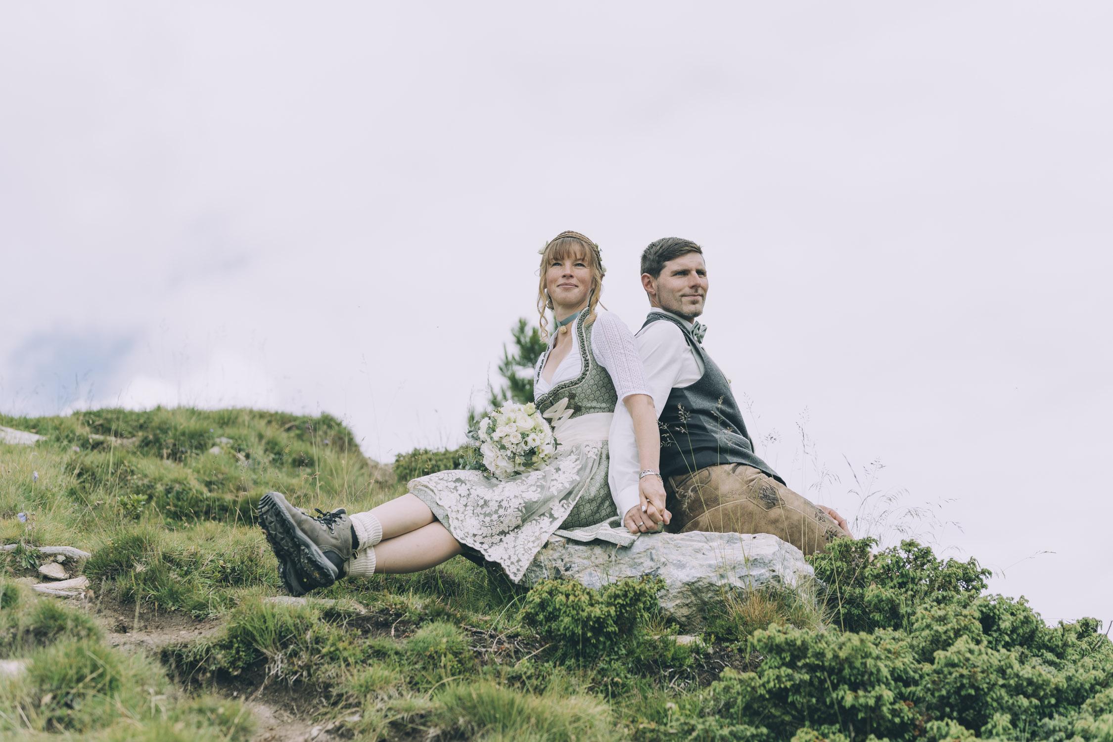 Hochzeitsshooting auf der Granatalm im Zillertal