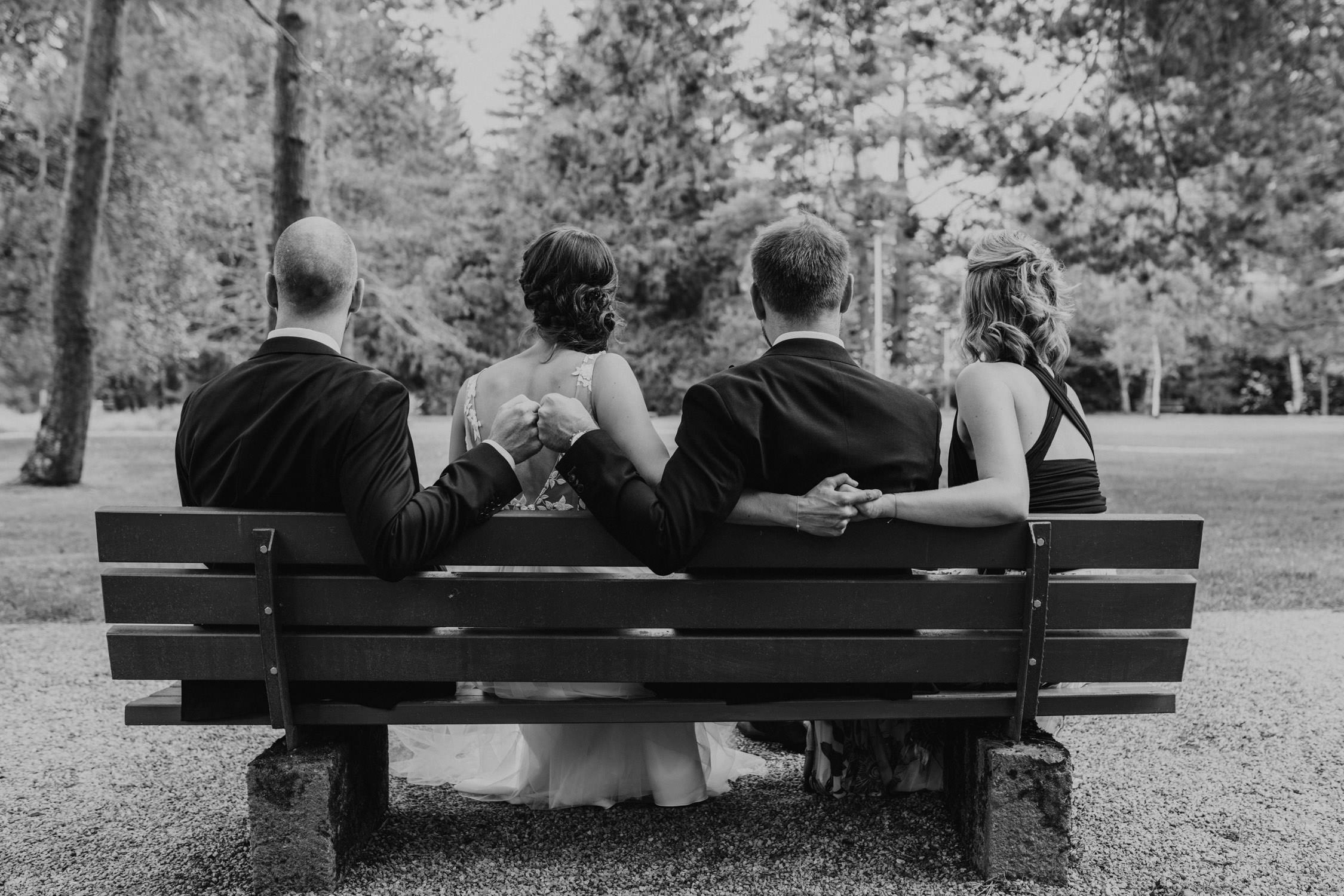 Bride, Braut, Trauzeugen, Maid of honor, Groom, Best Man, Congresspark Igls, Hochzeit, Wedding